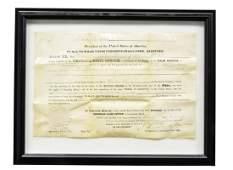 FINE PRESIDENT ANDREW JACKSON SIGNED LAND GRANT.