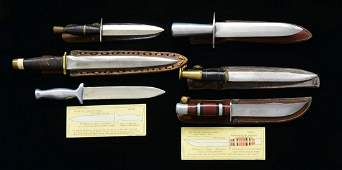 6 WWII US FIGHTING KNIVES WITH THEATER MADE SHOP