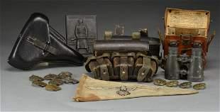 WWI & WWII GERMAN FIELD GEAR, SPORTS BADGES &
