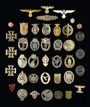 WWII GERMAN BADGES, MEDALS, PINS, TINNIES & MORE.