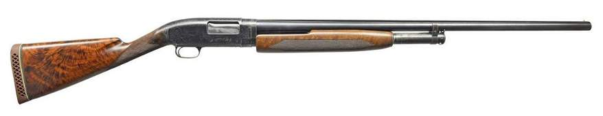 WINCHESTER FACTORY ENGRAVED MODEL 1912 PIGEON