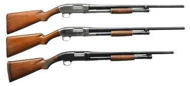 3 WINCHESTER MODEL 1912 PUMP SHOTGUNS.