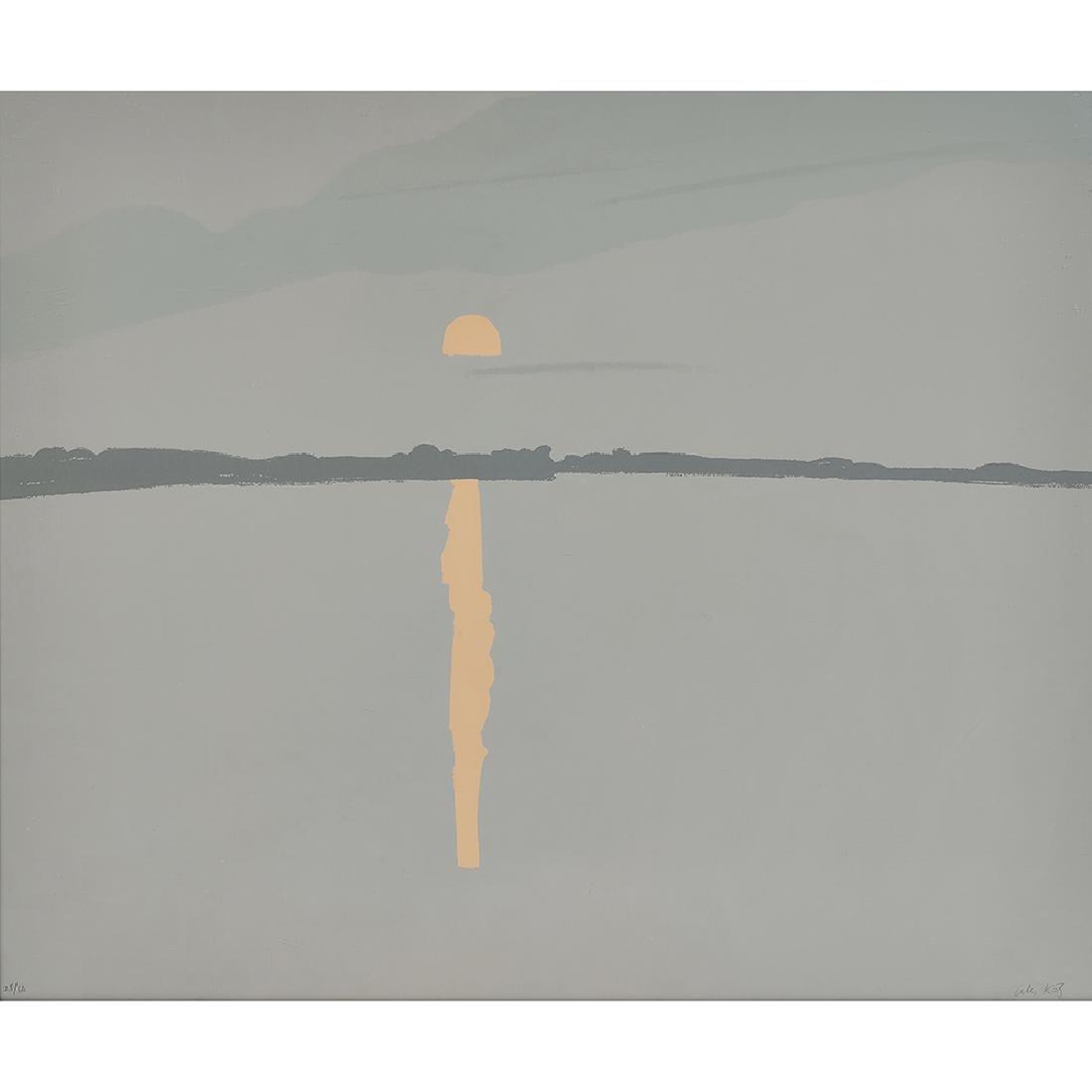 Alex Katz, Sunset, Lake Wesserumett, 1972