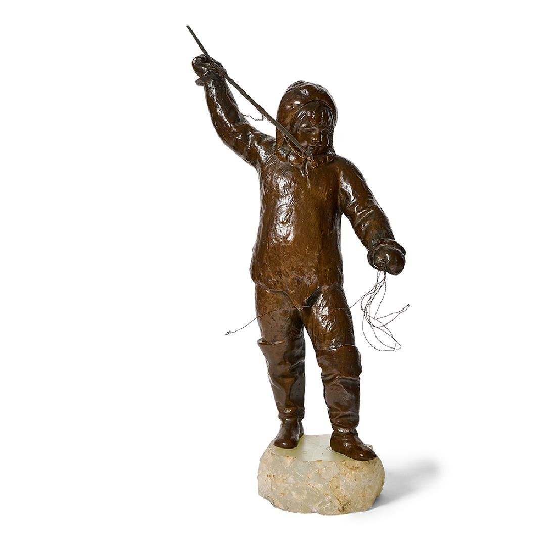 Artist Unknown, Eskimo Boy with Harpoon