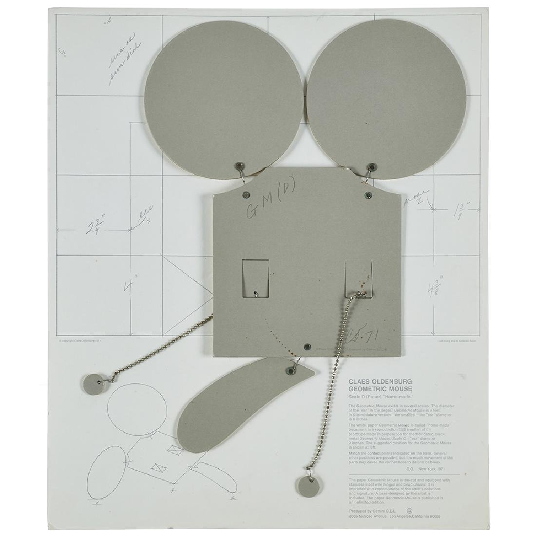 Claes Oldenburg, Geometric Mouse, Scale D