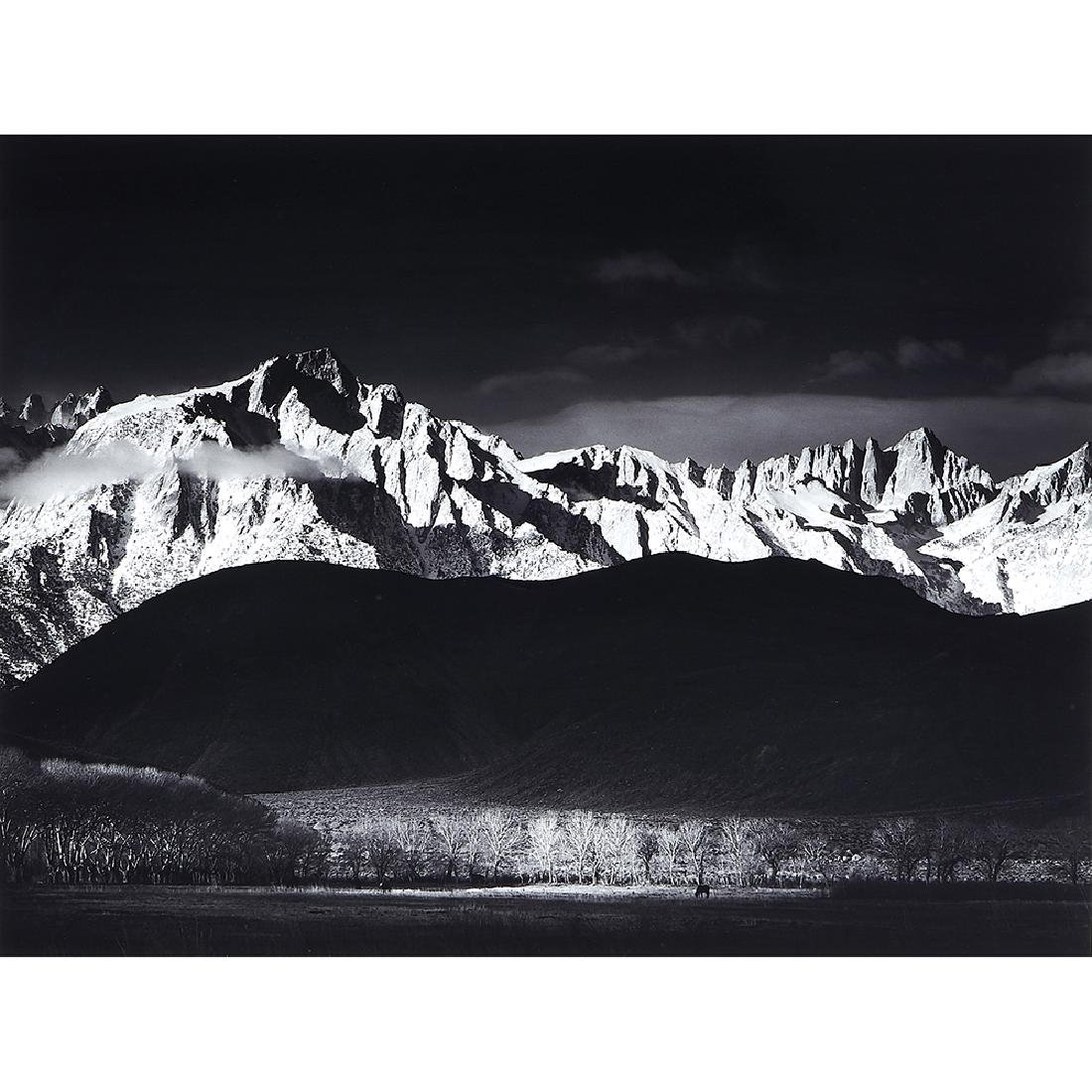 Ansel Adams, Winter Sunrise, Sierra Nevada