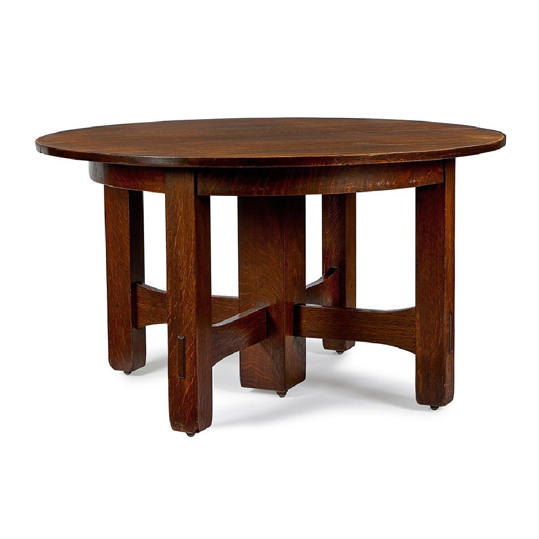 Gustav Stickley (1858-1942) dining table