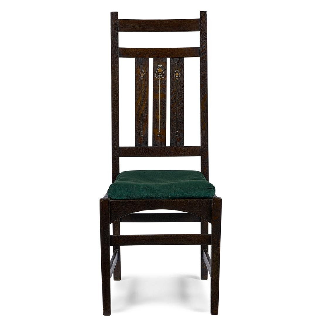 Gustav Stickley / Harvey Ellis inlaid side chair