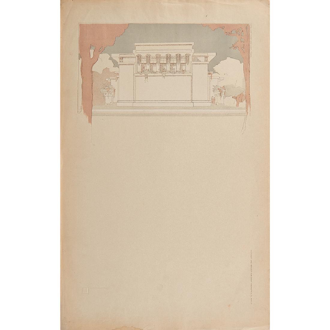 Frank Lloyd Wright Wasmuth portfolio print