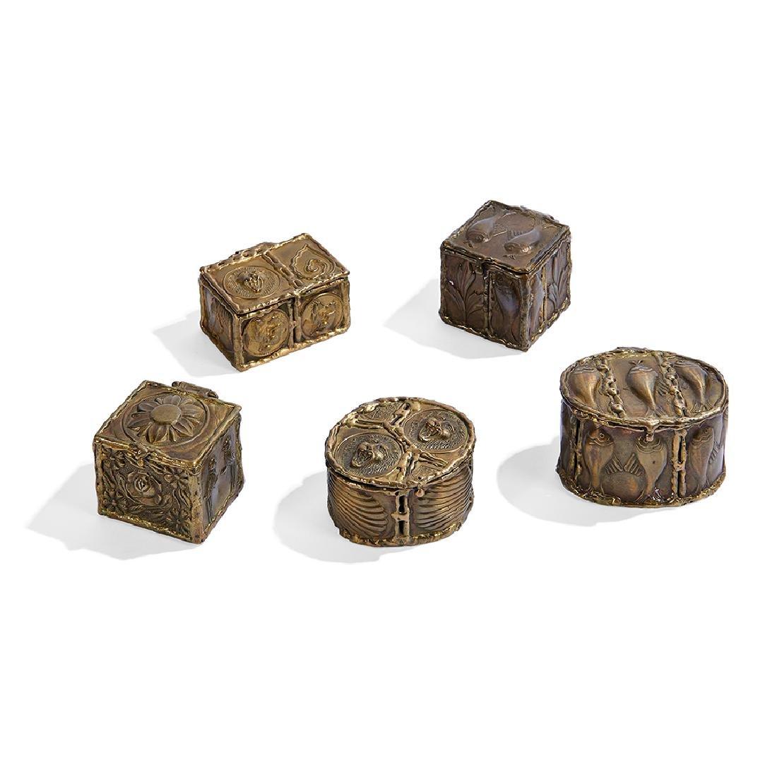 Pal Kepenyes boxes, set of five
