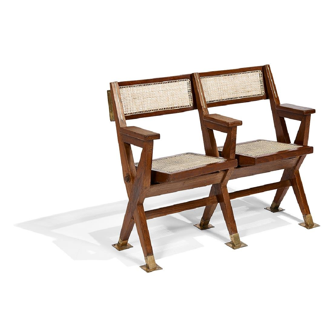 Pierre Jeanneret two-seat Theater Bench