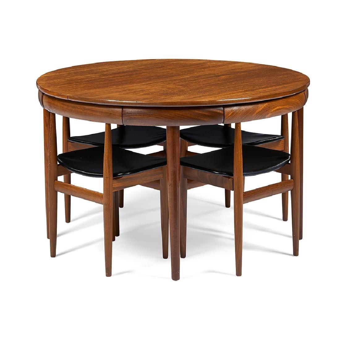 Hans Olsen For Frem Rojle Dining Table, 6 Chairs