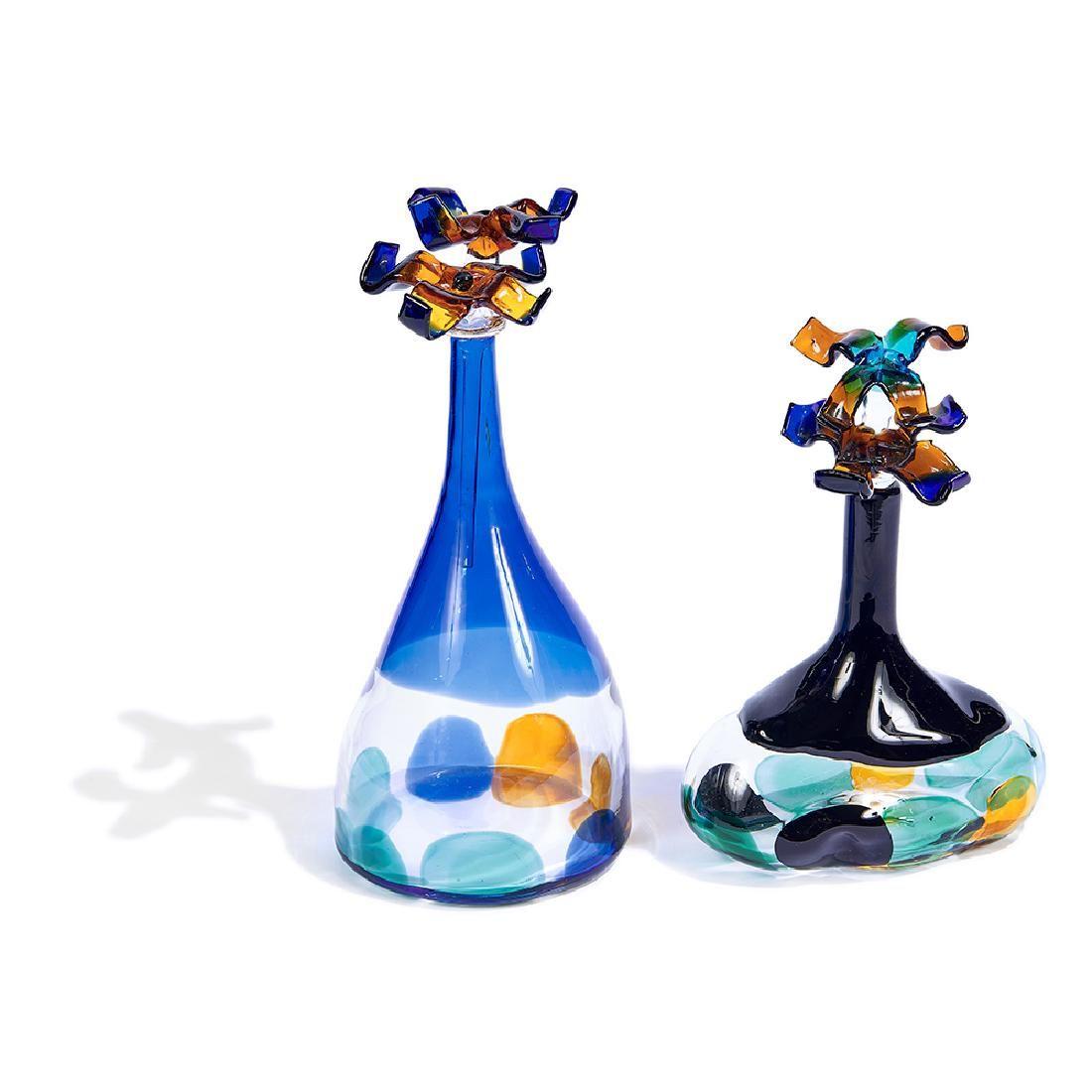 Luciano Gaspari for Salviati & Co. bottles, pair