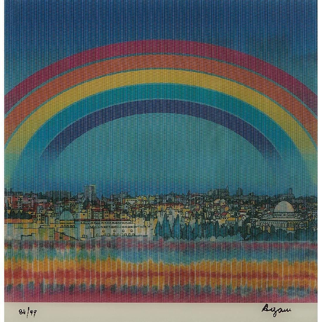 Yaacov Agam, Jerusalem Double Rainbow