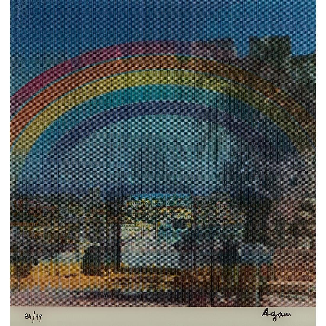 Yaacov Agam, Jerusalem Double Rainbow - 2
