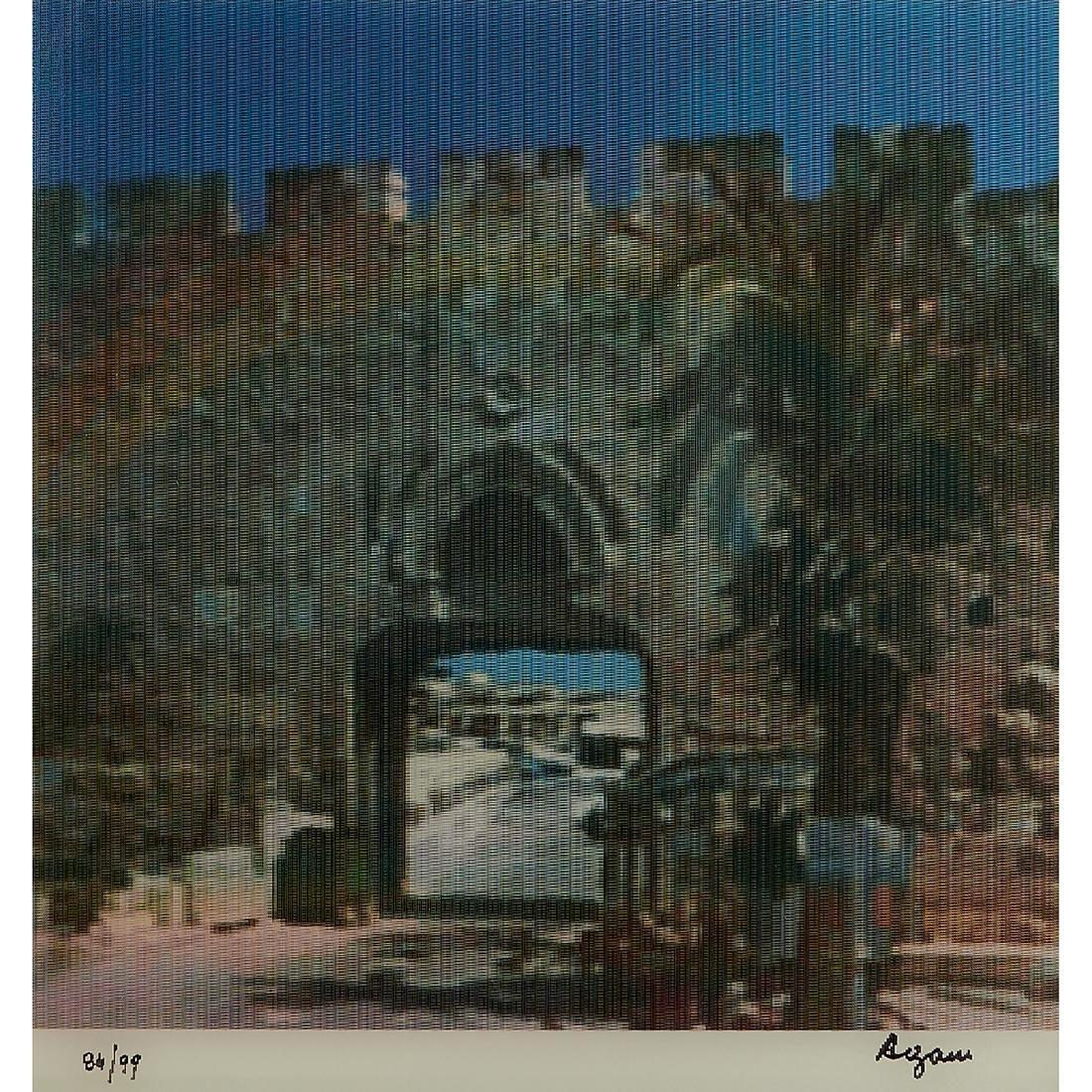 Yaacov Agam, Jerusalem Double Rainbow - 3