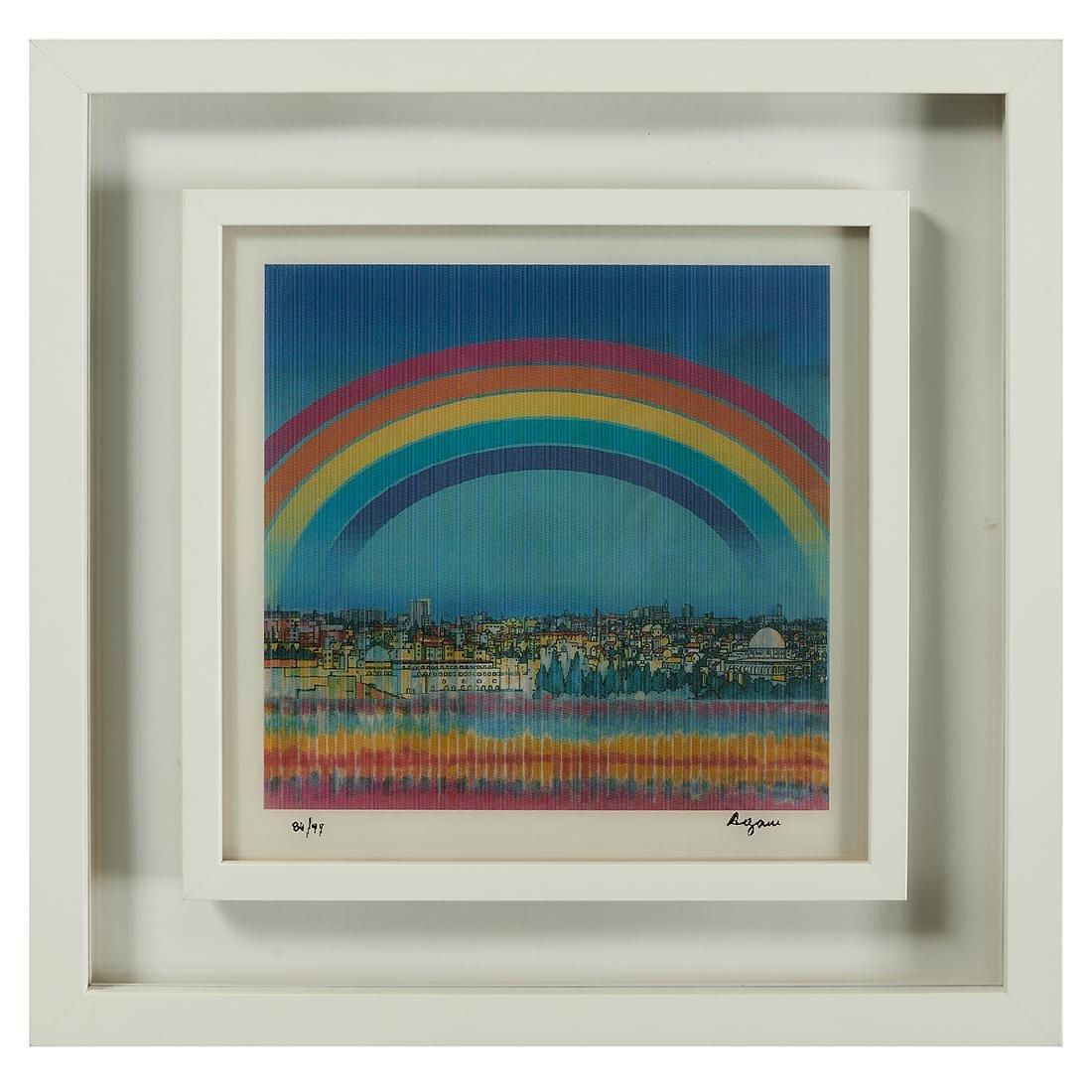 Yaacov Agam, Jerusalem Double Rainbow - 4
