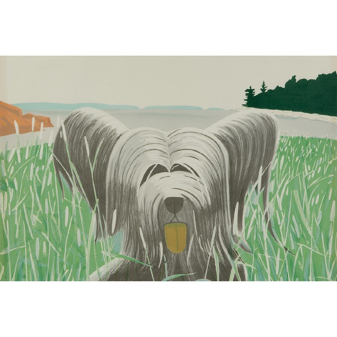 Alex Katz, Dog at Duck Trap