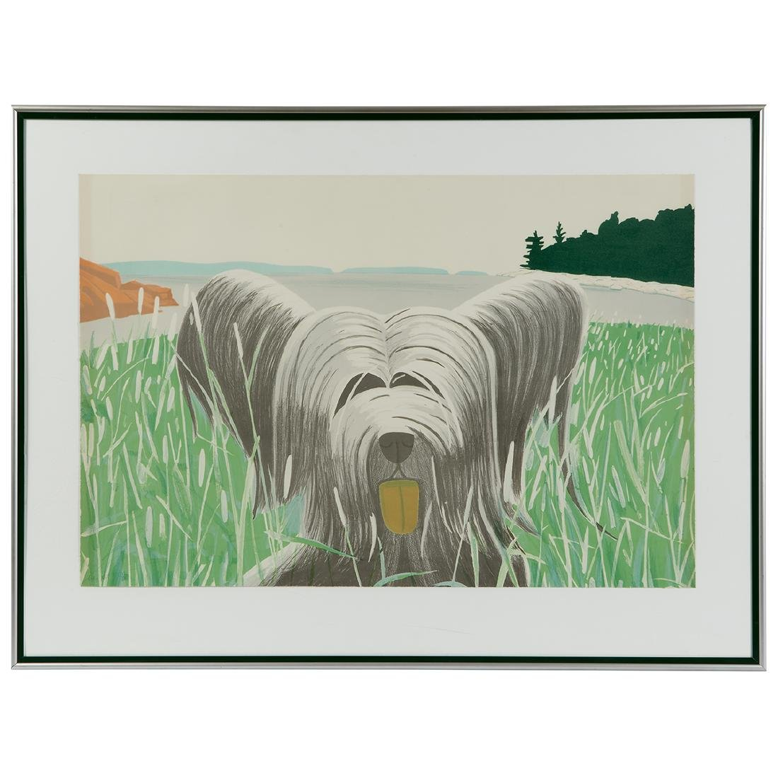 Alex Katz, Dog at Duck Trap - 2