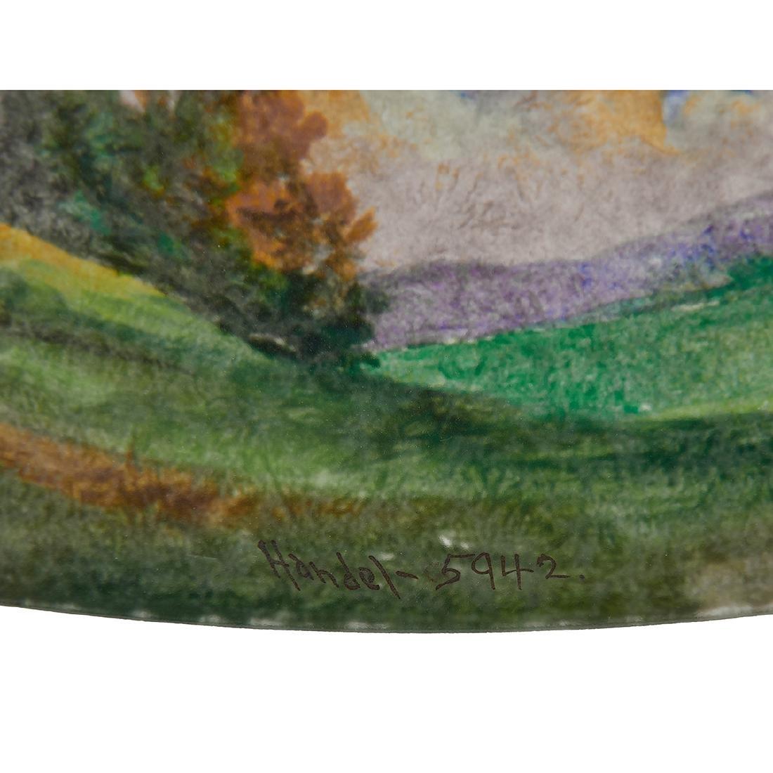 Handel, Obverse Painted Landscape Table Lamp - 3