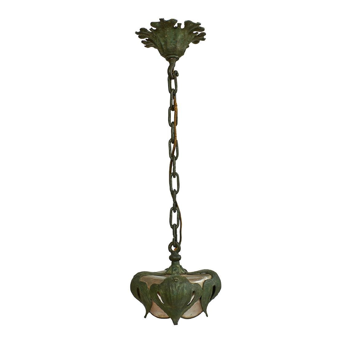 American Art Nouveau, Hanging Light Fixture - 2