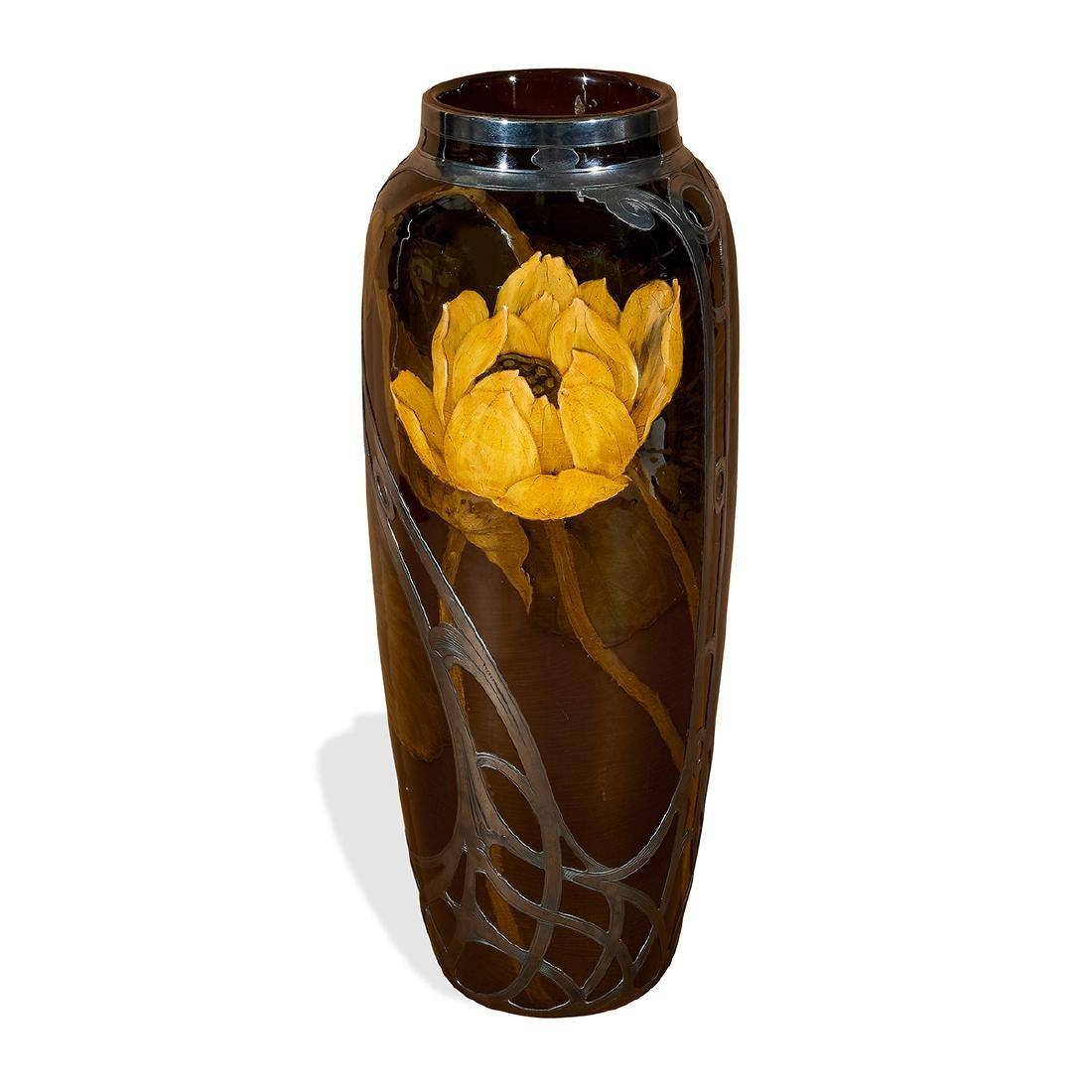 Rookwood, Matt Daly, Gorham Silver Overlay Vase