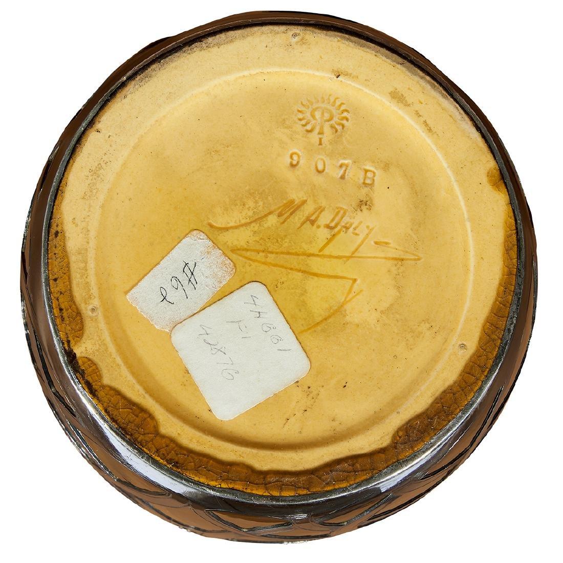 Rookwood, Matt Daly, Gorham Silver Overlay Vase - 5