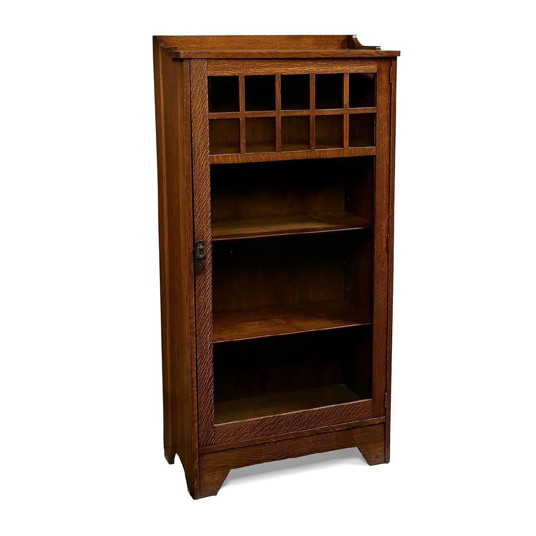 Lifetime, Oak Single-Door Bookcase, #7218