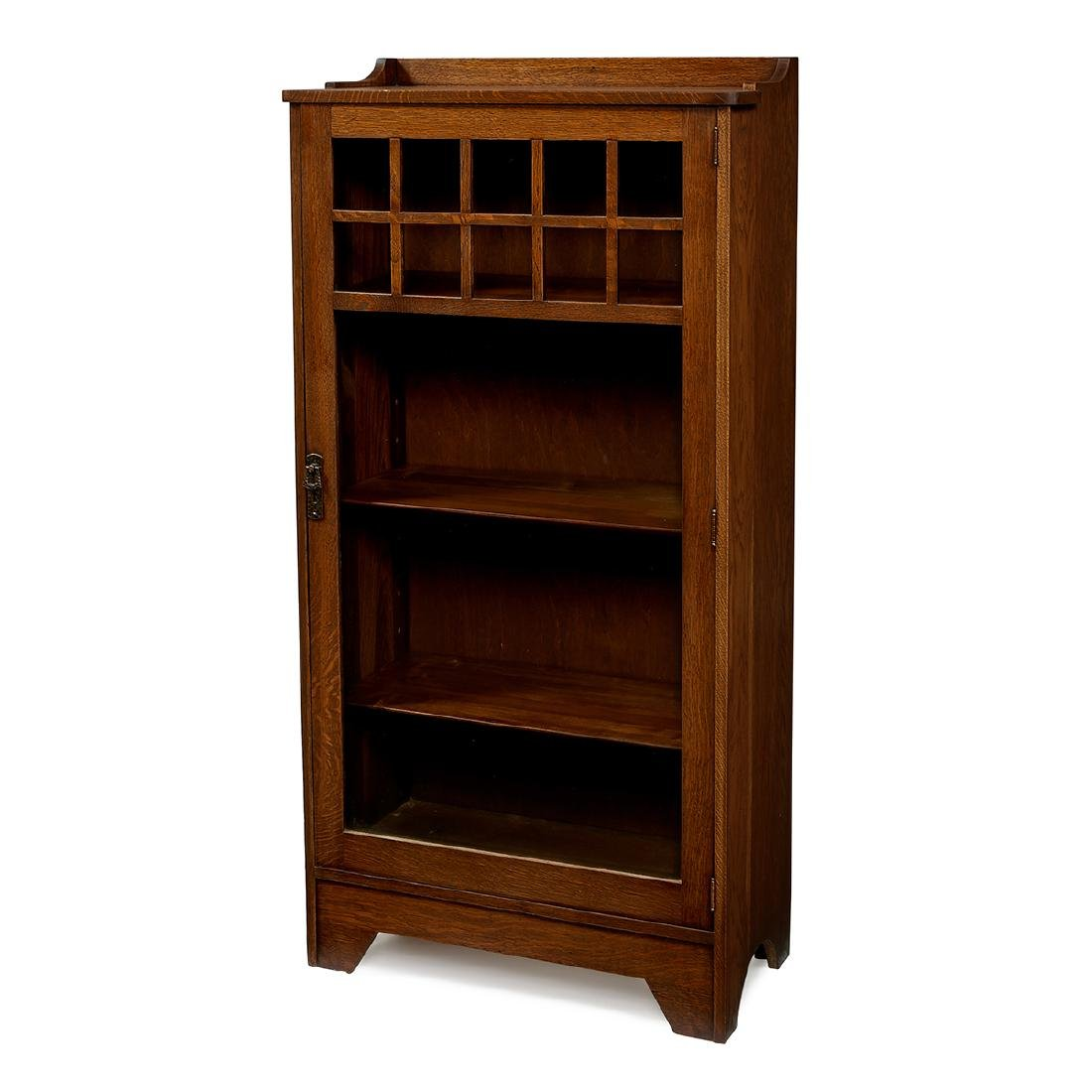 Lifetime, Oak Single-Door Bookcase, #7218