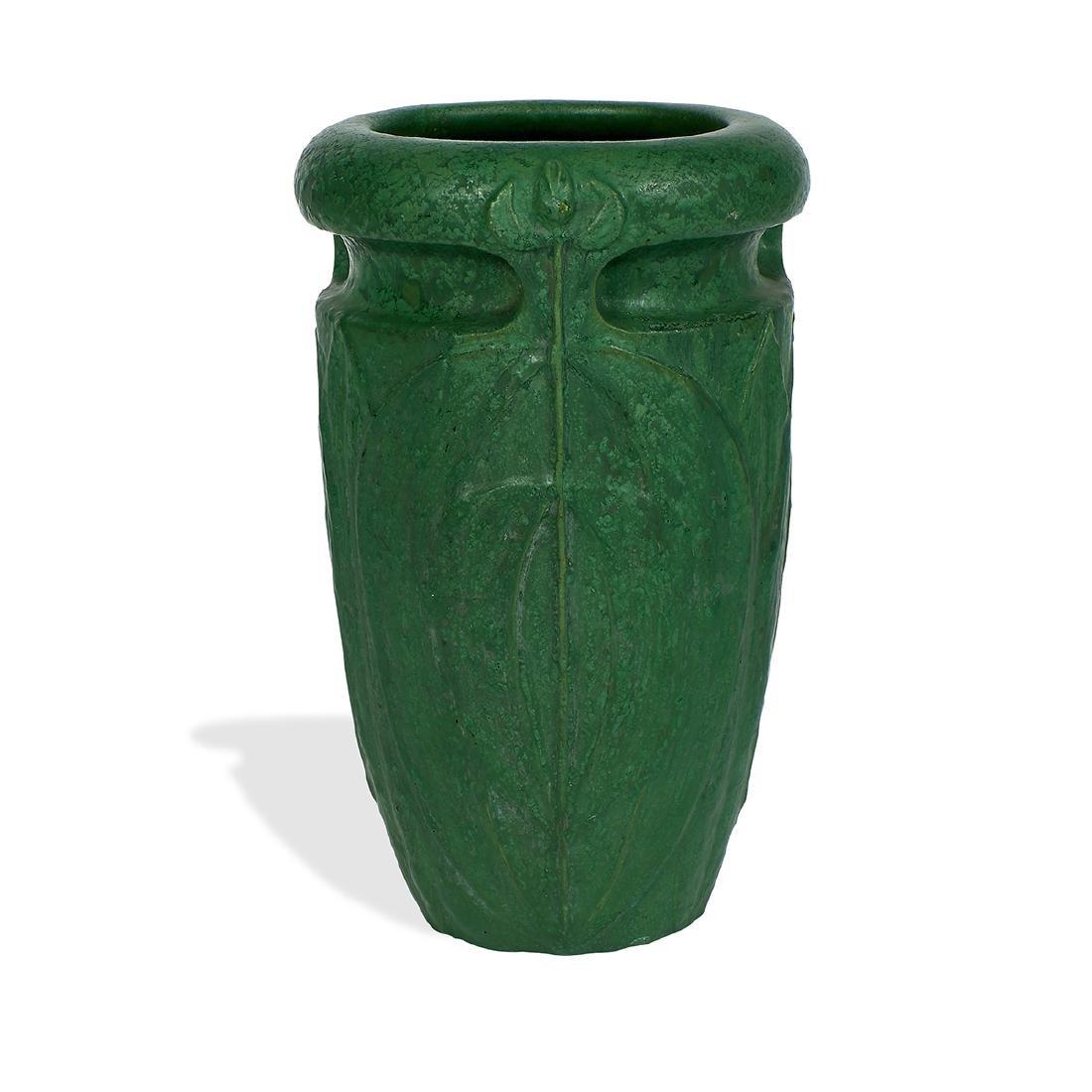 Wheatley Pottery Company, Stylized Foliate Vase