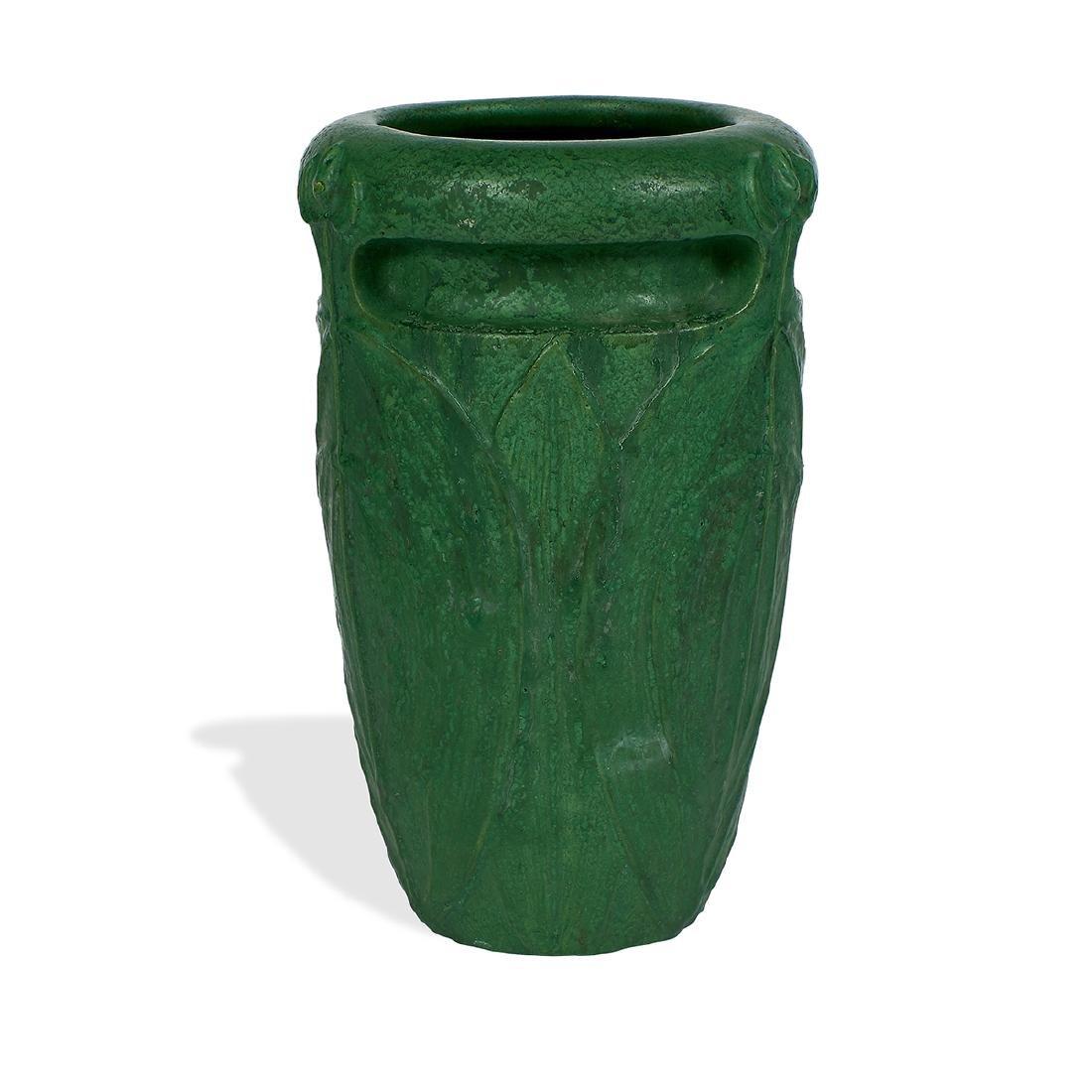Wheatley Pottery Company, Stylized Foliate Vase - 2