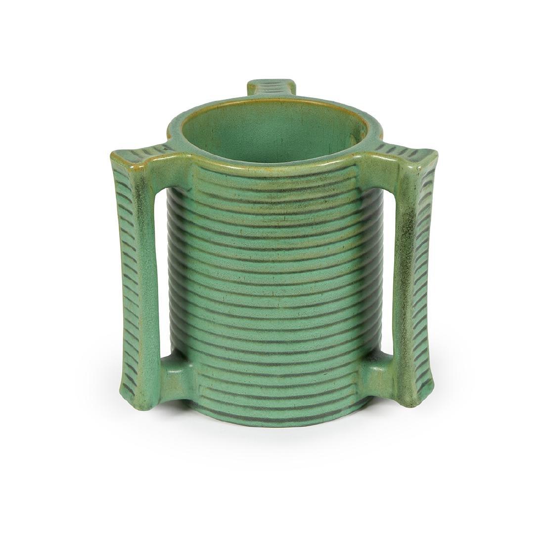 Teco, W.D. Gates, Three-Handled Vase, #278