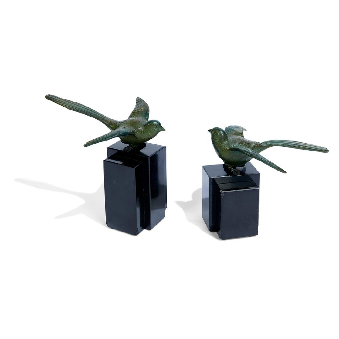 Georges Lavroff, Art Deco Bird Sculptures, Pair