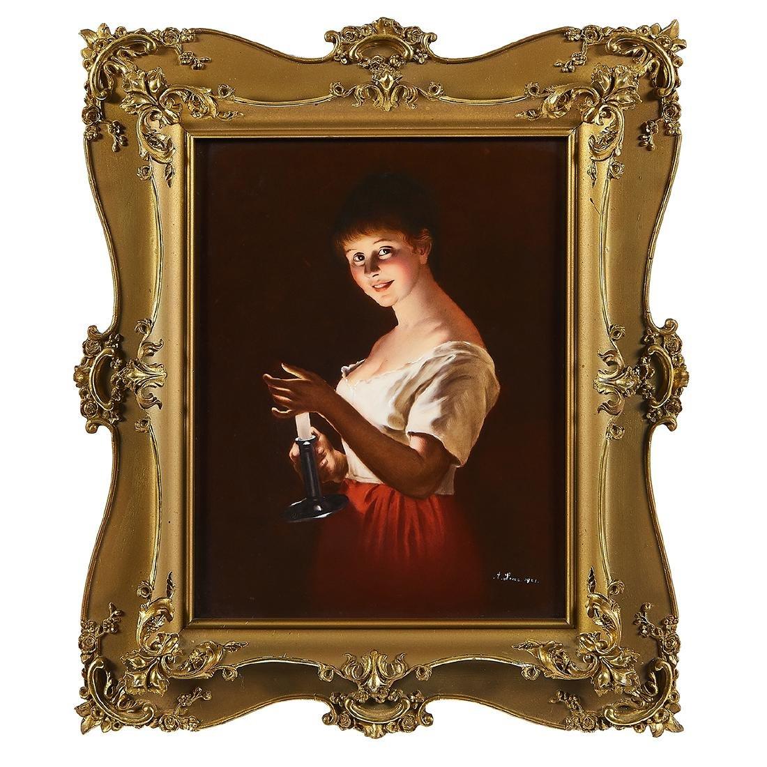 """T&V, """"Good Night"""" Portrait Porcelain Plaque - 2"""