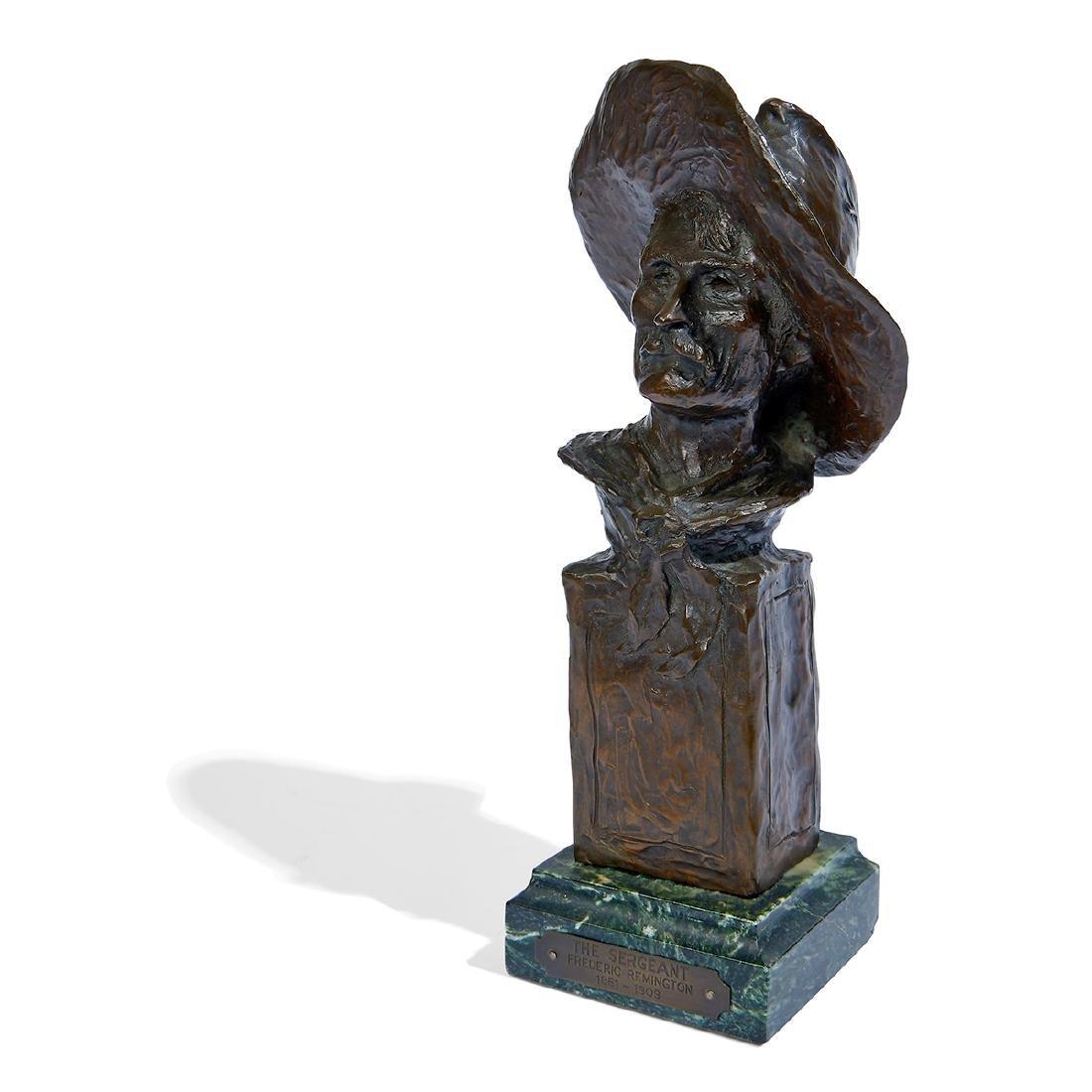 "after Frederick Remington, ""Sergeant"" Bronze Bust"