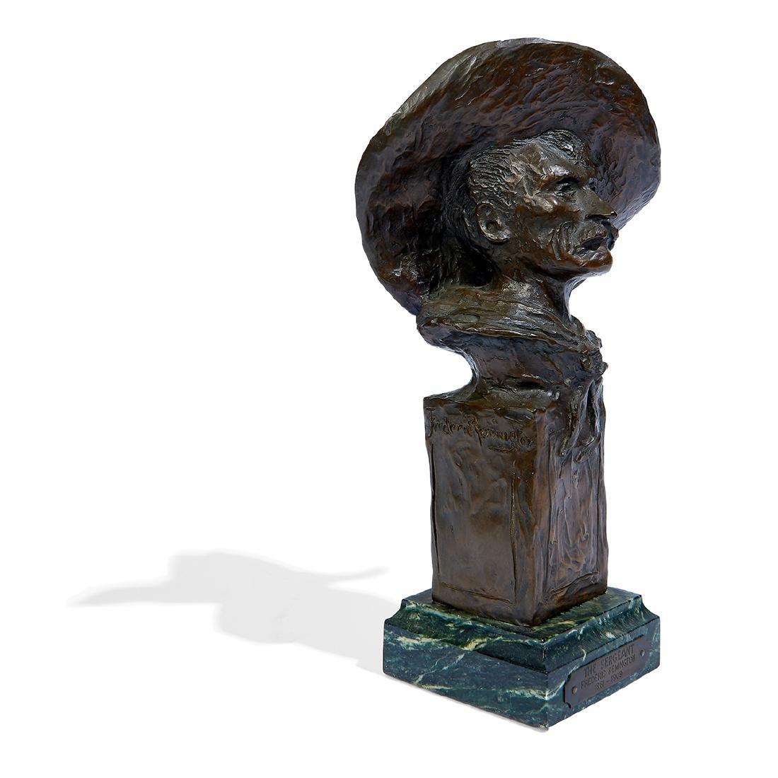 "after Frederick Remington, ""Sergeant"" Bronze Bust - 3"