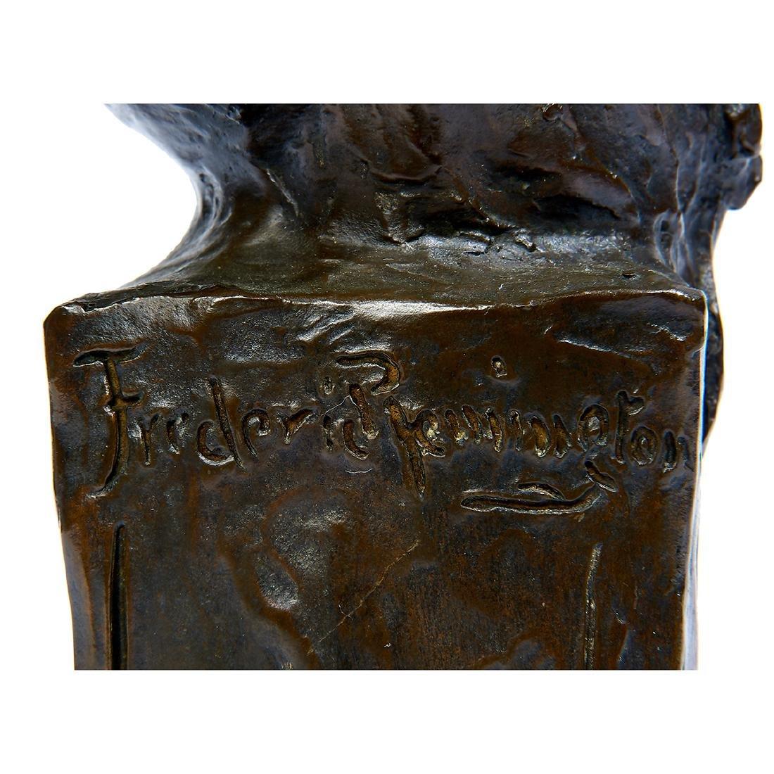 "after Frederick Remington, ""Sergeant"" Bronze Bust - 5"