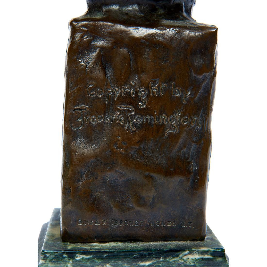 "after Frederick Remington, ""Sergeant"" Bronze Bust - 6"