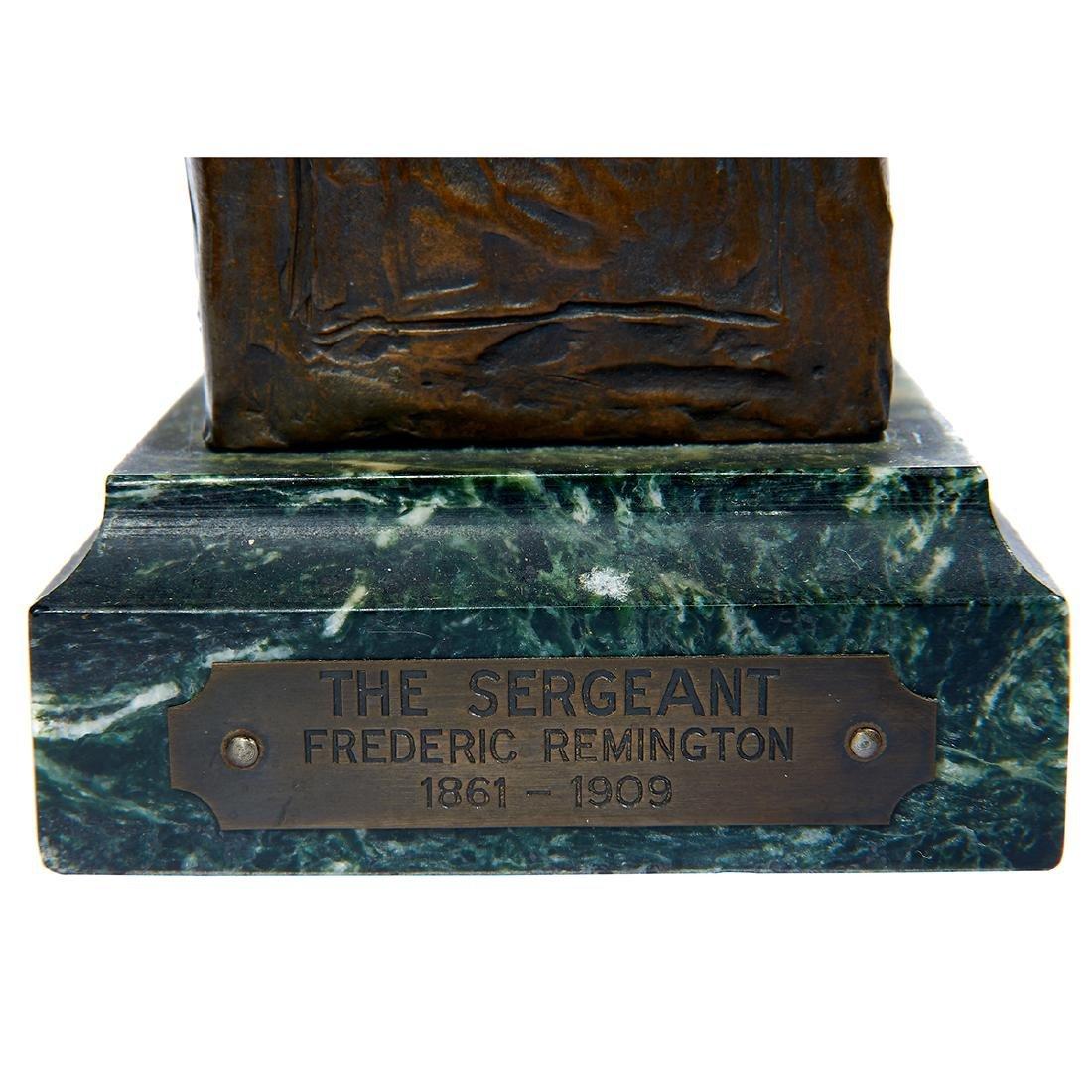 "after Frederick Remington, ""Sergeant"" Bronze Bust - 7"