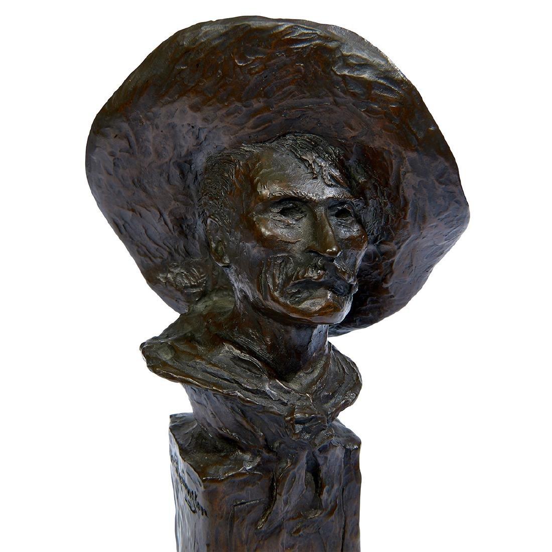 "after Frederick Remington, ""Sergeant"" Bronze Bust - 8"
