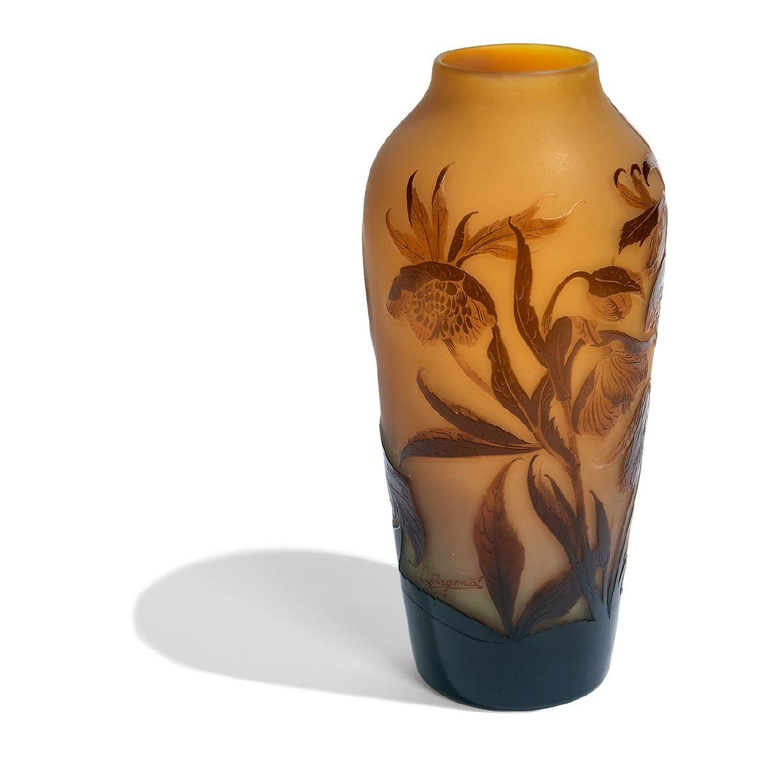 d'Argental, Anemones Cameo Glass Vase