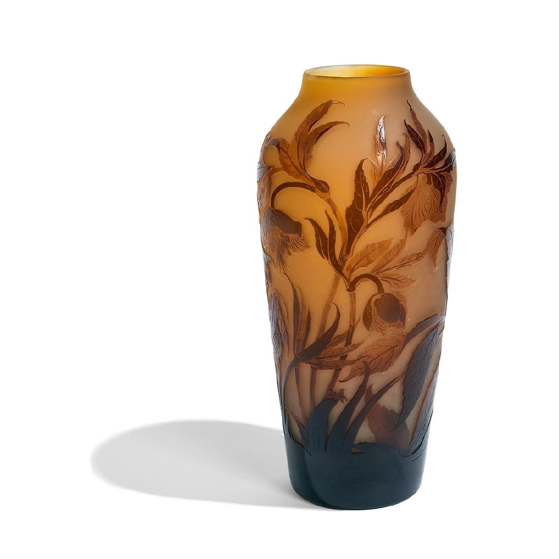d'Argental, Anemones Cameo Glass Vase - 2