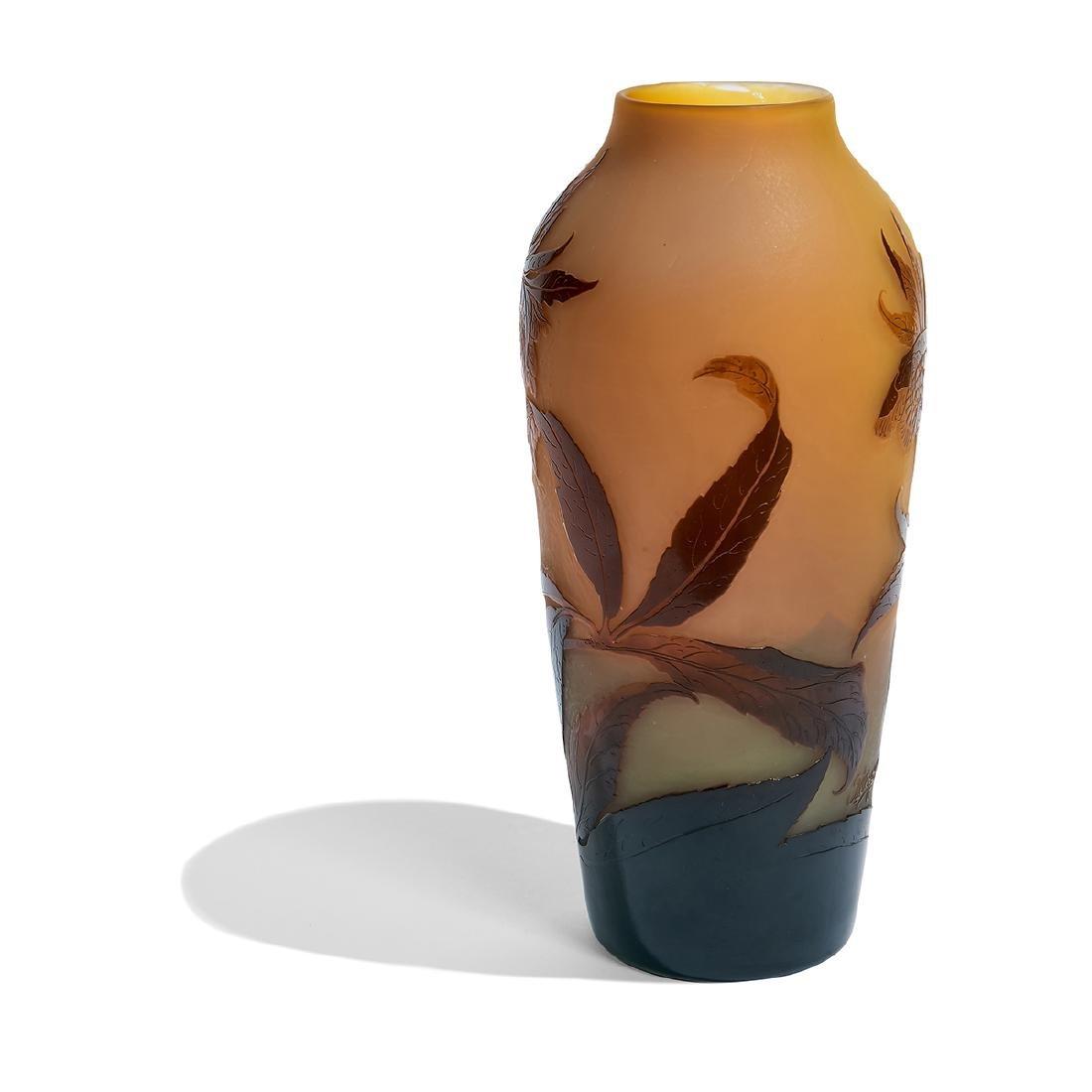 d'Argental, Anemones Cameo Glass Vase - 3