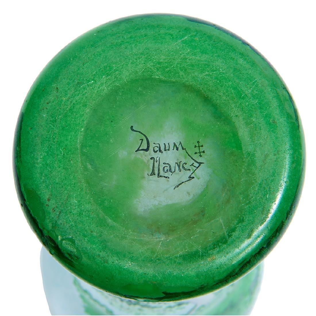 """Daum, """"Paysage d'été"""" Enameled Cameo Glass Vase - 5"""