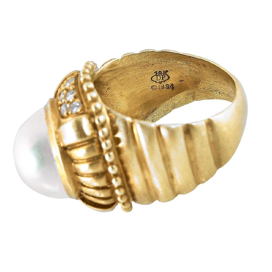 Doris Panos, 18K Yellow Gold Ladies Ring, Size 7 - 3