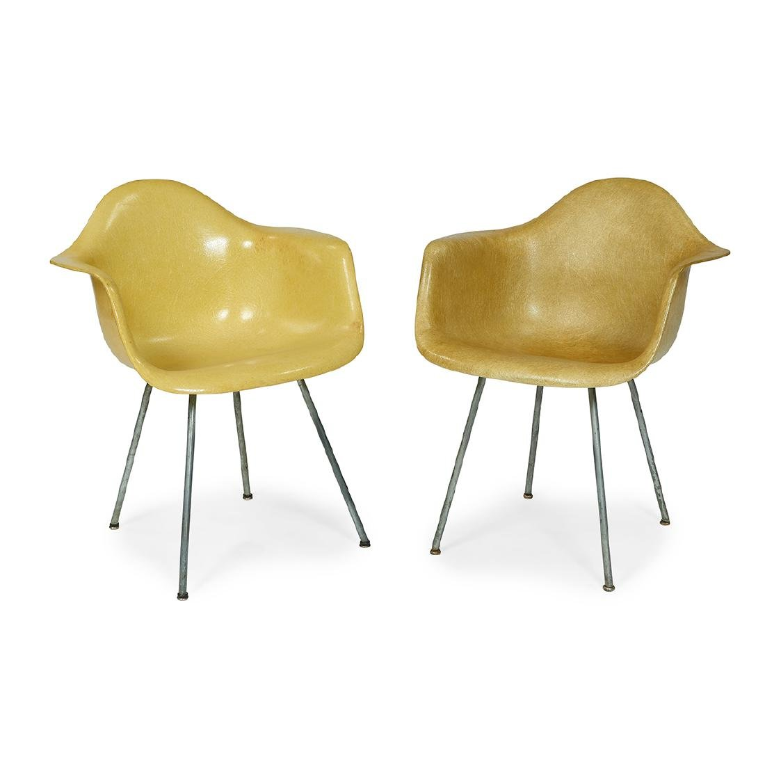 Charles & Ray Eames shell chairs, two, one Zenith