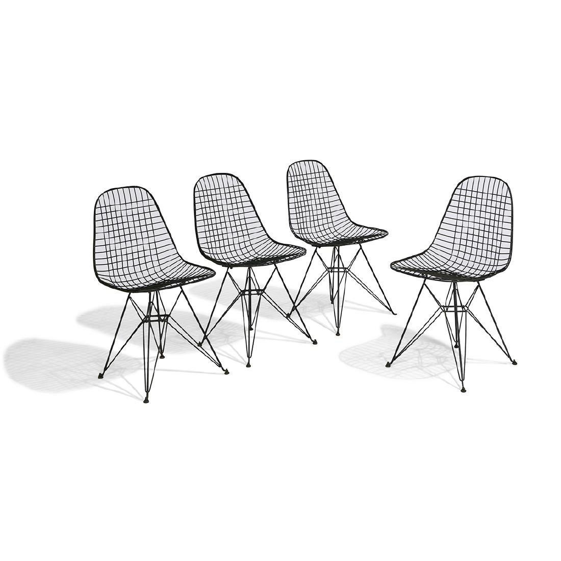 Charles & Ray Eames DKR-1 chairs, four