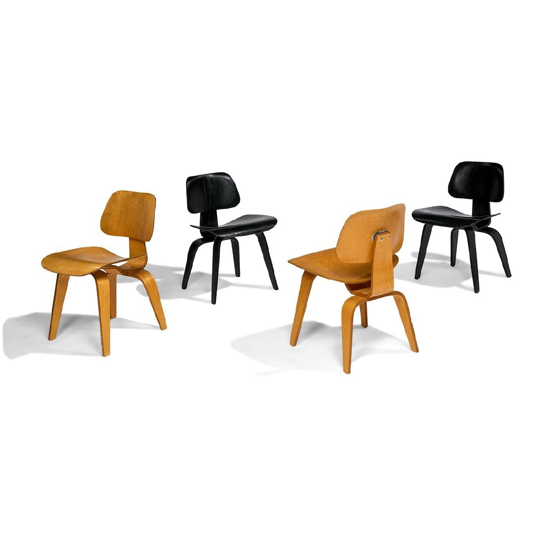 Charles & Ray Eames Herman Miller DCWs, four