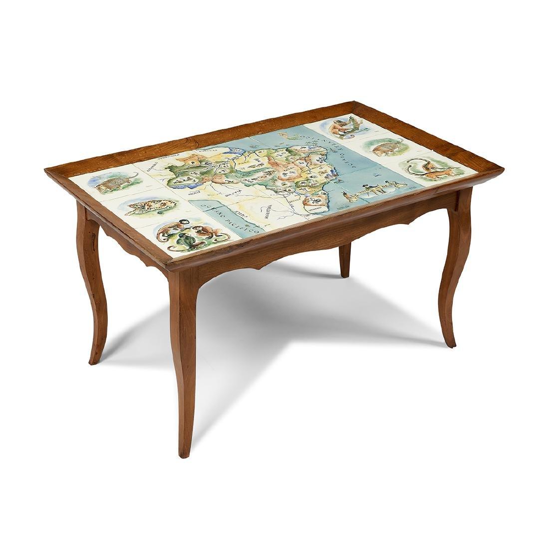 Hilde Weber for Osirarte Map of Brazil table