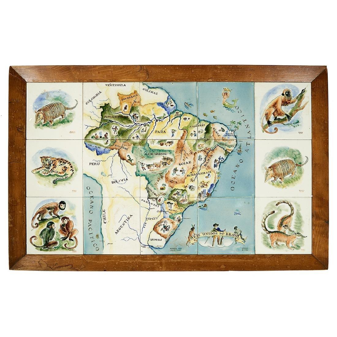Hilde Weber for Osirarte Map of Brazil table - 2